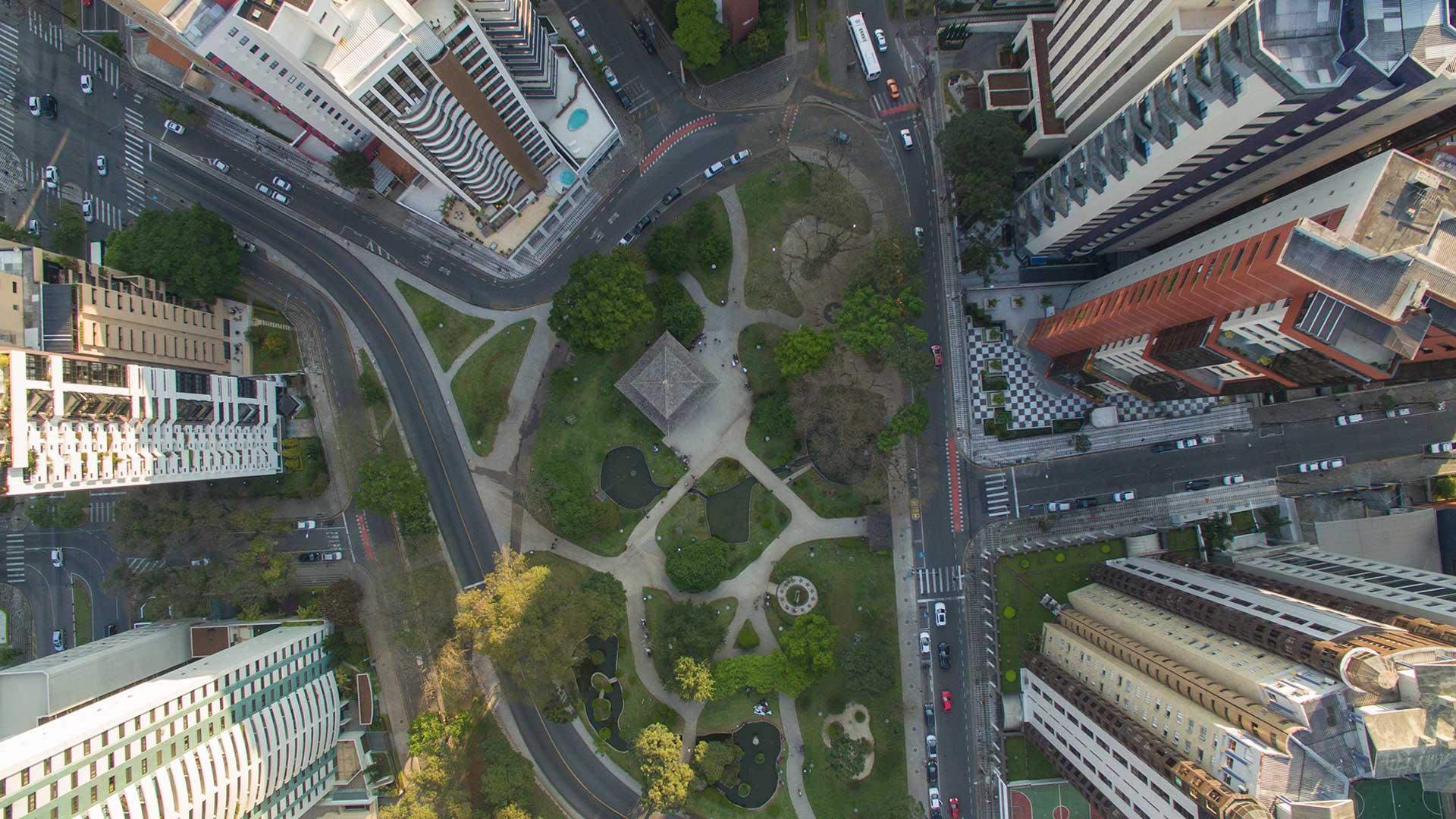 Praça do Japão Fotografia Aerea