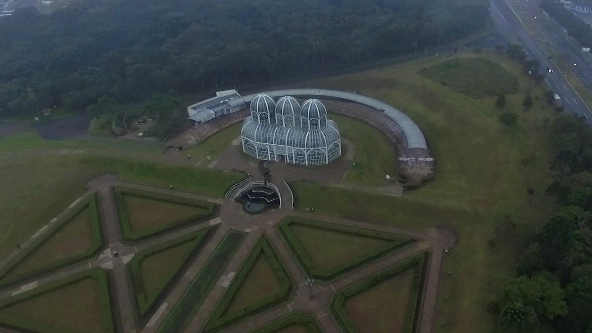 Fotografia Aerea Drone Jardim Botanico Curitiba