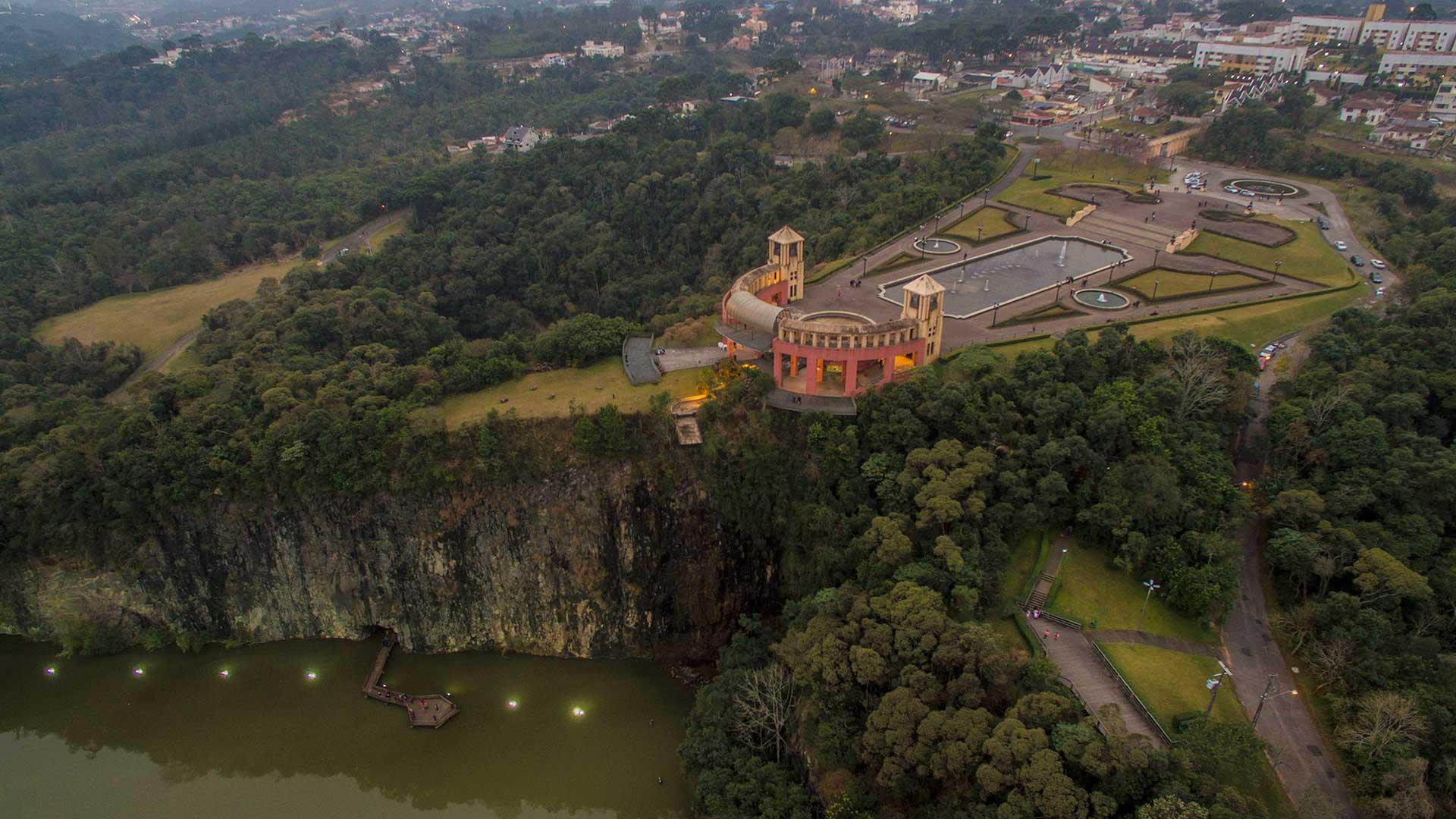 Fotografia Aérea Parque Tangua em Curitiba